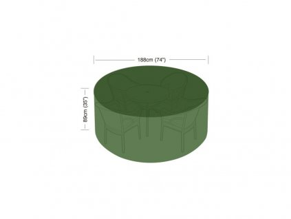 plachta krycí na set 4-6 židlí+kul.stůl pr.188x89cm PE 90g/m2