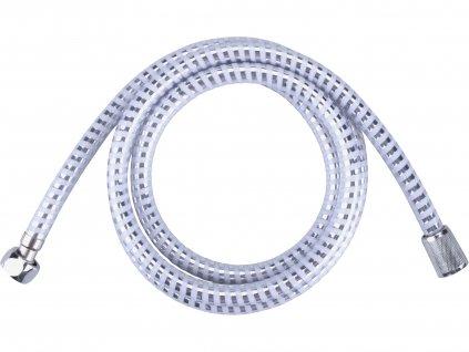 VIKING 630223 hadice sprchová, stříbrný pruh, 180cm, PVC