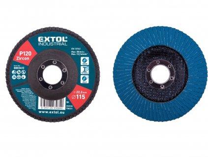 EXTOL INDUSTRIAL 8803412 kotouč lamelový šikmý zirkonový, P120, O 115mm