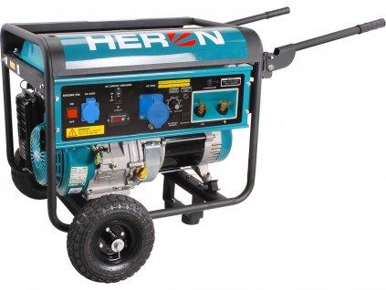 HERON 8896310 elektrocentrála se svářečkou 220A, benzínová 14HP/5,5kW
