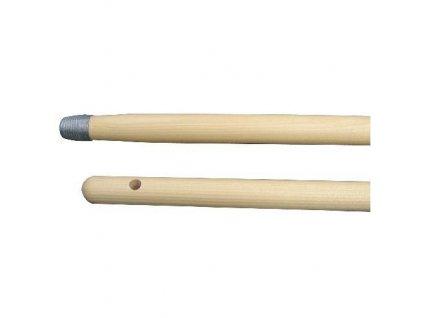 Násada smeták 140cm s kovovým závitem JZ