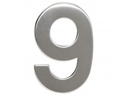 Číslo domovní č.9  95mm nerez