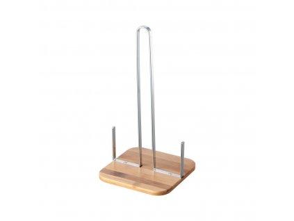 Stojan na kuchyňské utěrky 16,5x16,5x32,4cm Cr+bambus