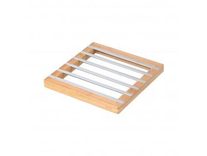 Podložka pod hrnec 22,2x22,2x2cm Cr+bambus