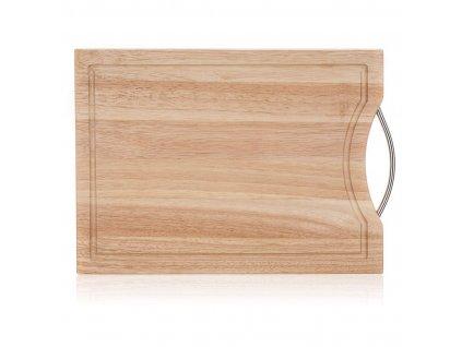 Prkénko s ručkou 30x20x1,5cm BRILLANTE  gumovník
