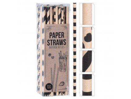 Brčka 6x195mm papírová mix dekorů (100ks)