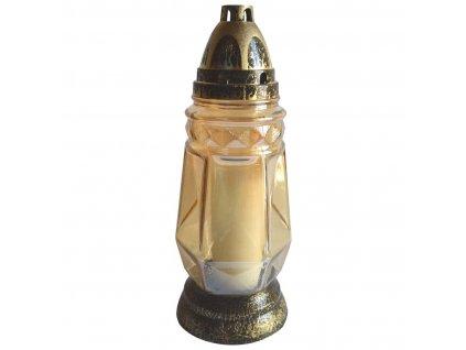 Lampa hřbitovní sklo 29cm (120g) (hoří 36hod) paraf. ZLA