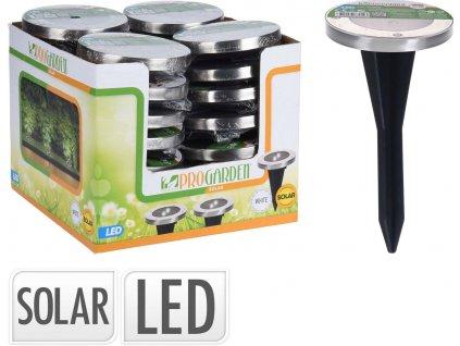 Lampa solární v.13cm, pr.12cm 2LED