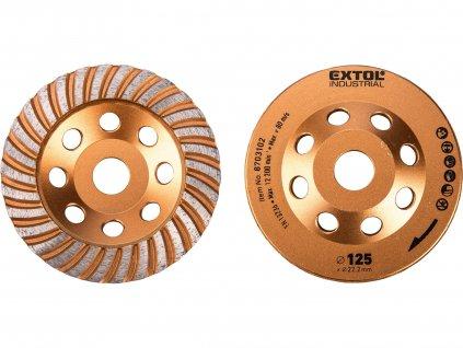 EXTOL INDUSTRIAL 8703102 kotouč diamantový brusný lamelový, O 125x22,2mm