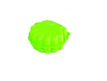Pískoviště / bazének Mušle s krytem - 2 ks - zelená