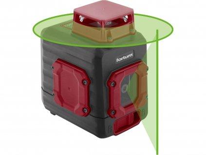 FORTUM 4780209 laser zelený liniový, křížový samonivelační