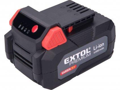 EXTOL PREMIUM 8895782 baterie akumulátorová, 20V Li-ion, 4000mAh