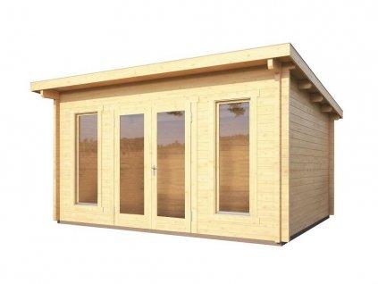 dřevěný domek KARIBU STAVANGER 3 (82879) natur