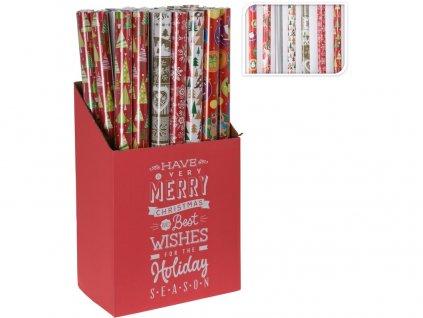 Papír vánoční balicí 0,7x 8m mix dekorů