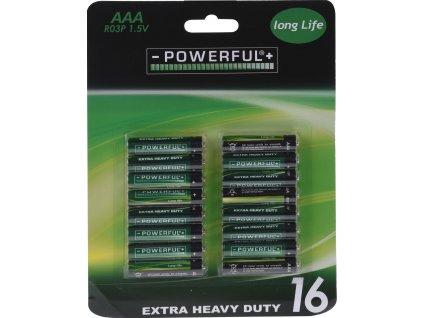 Baterie EXTRA HEAVY DUTY AAA (16ks)