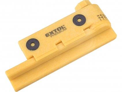 EXTOL PREMIUM 8812291 pokosová nastavitelná řezací šablona, s magnety