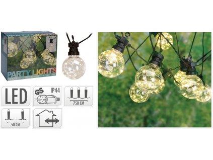 Osvětlení ŽÁROVKA 8cm, 7,5m, 50LED, venkovní
