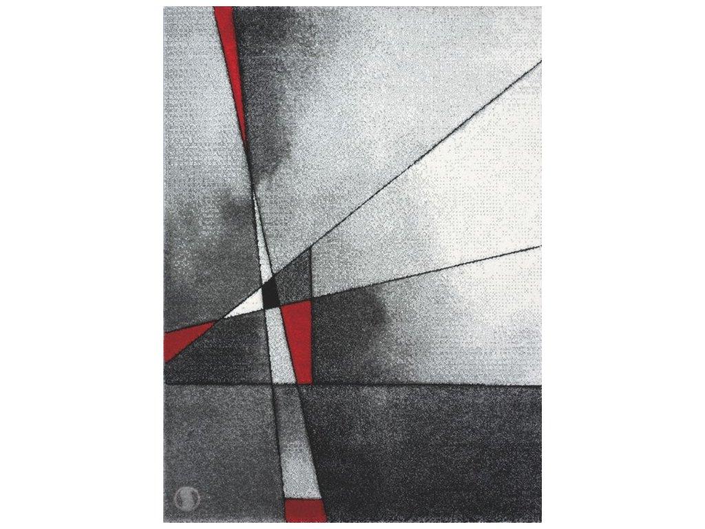 Kusový koberec - Brilliance 21807/951 grey-red
