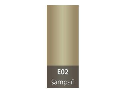 Přechodová lišta 30mm oblá ŠAMPAŇ E02  93cm a 270cm