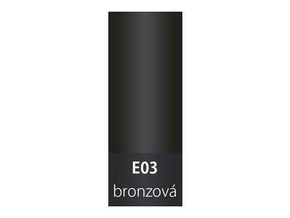 Přechodová lišta 30mm oblá BRONZ E03
