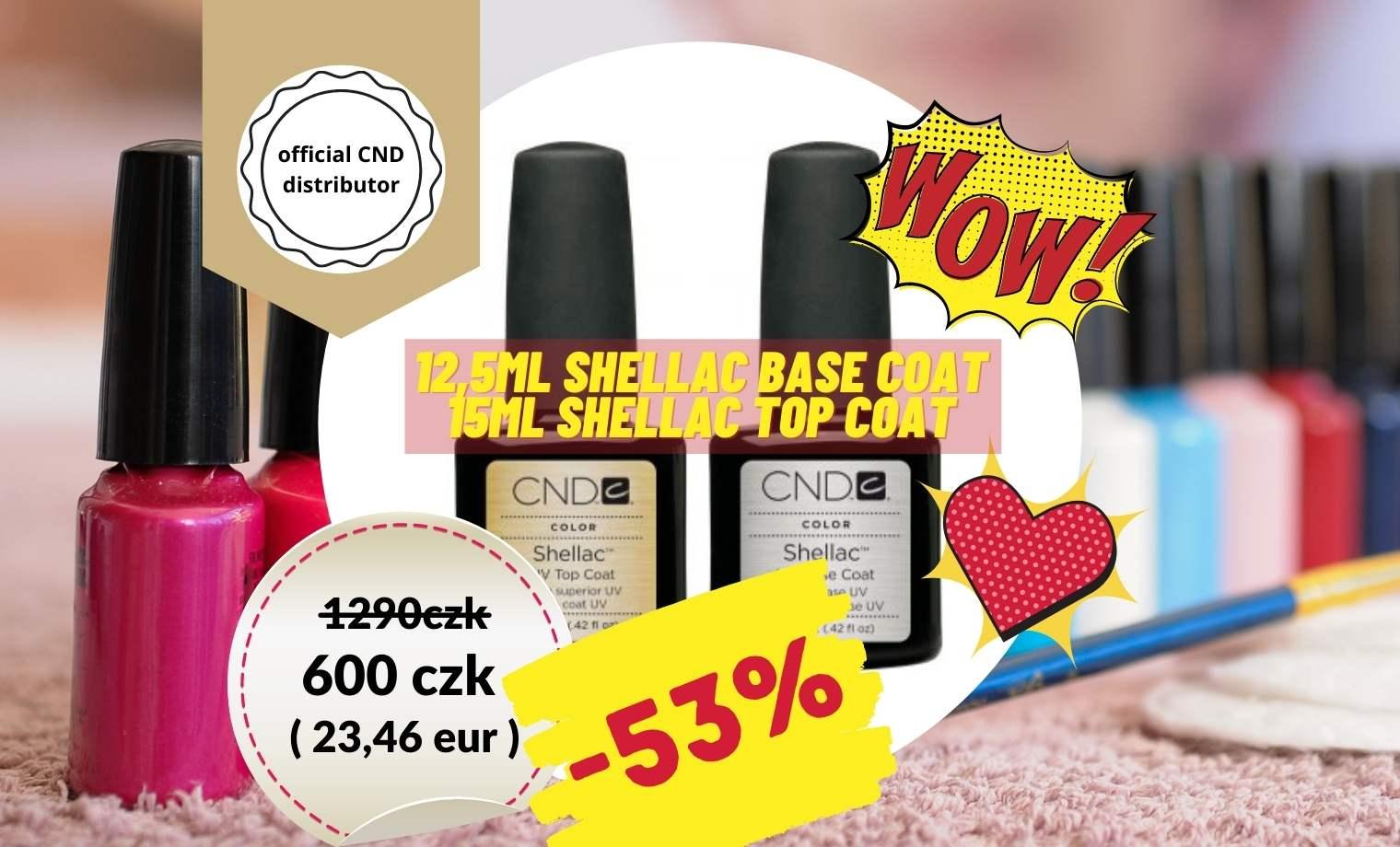 CND: Shellac Base/Top - 600czk/23,46eur