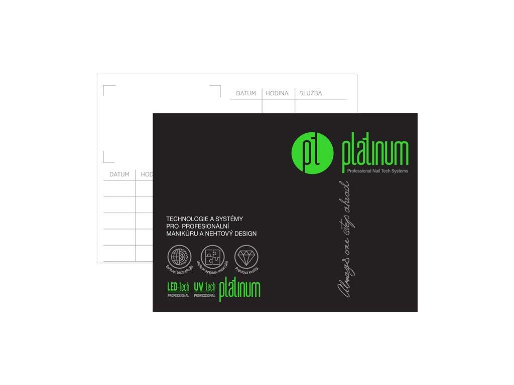 Platinum PROFESSIONAL ORDER CARDS - Thẻ đặt hàng hai mặt 24c, Kích thước 11x7cm