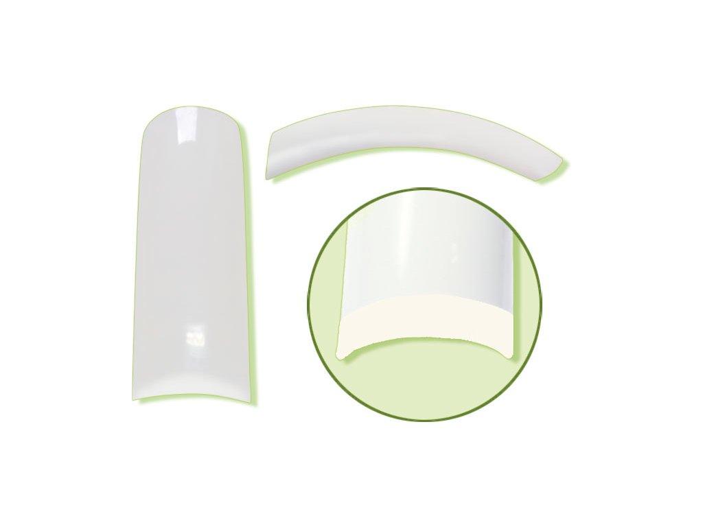 Platinum Nail tips PERFECT FLEX - móng tip đàn hồi, nhựa ABS mỏng  - NATURAL N.8 50c