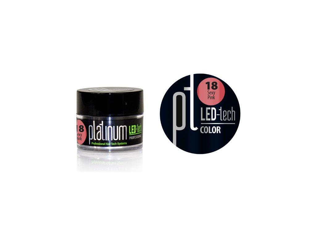 Platinum PLATINUM LED-tech COLOR Sexy Pink (18), 9g