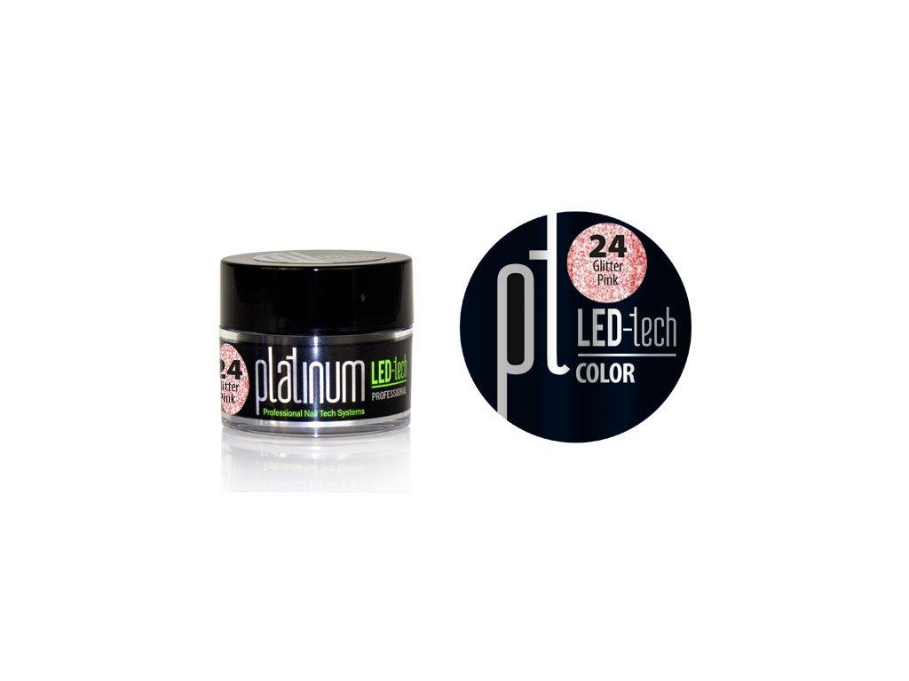 Platinum PLATINUM LED-tech COLOR Glitter Pink (24), 9g