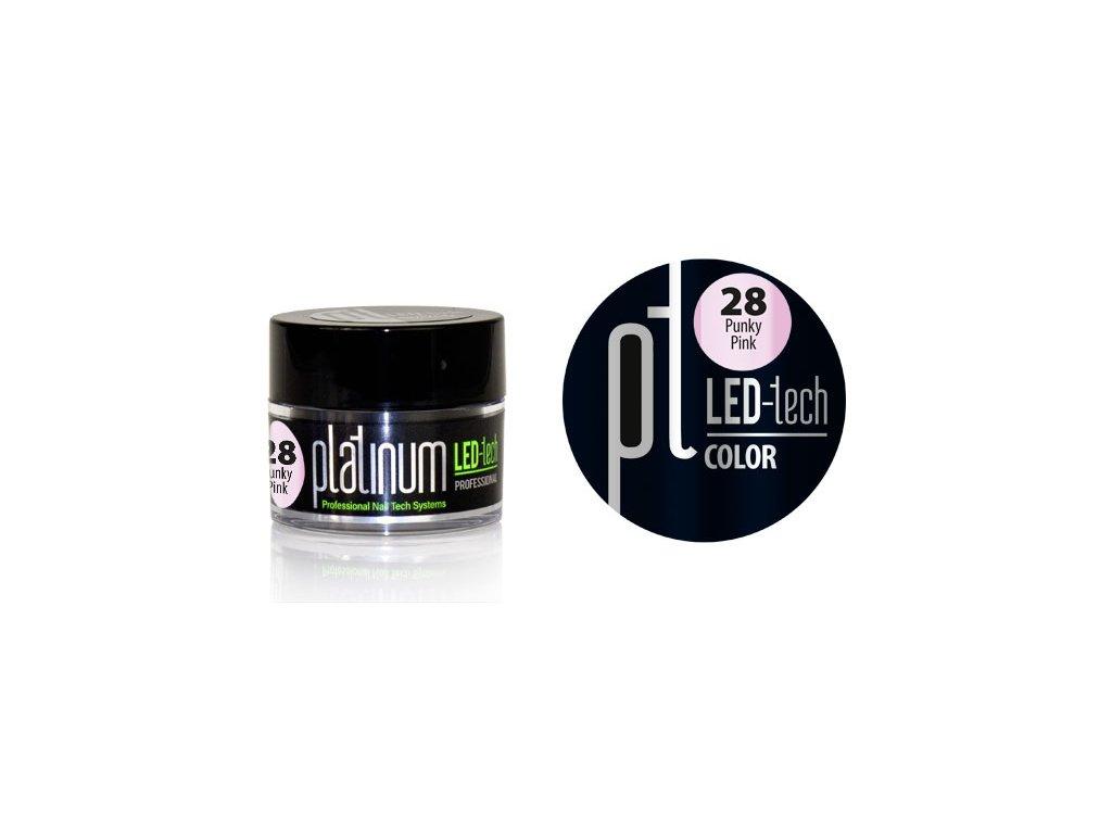 Platinum PLATINUM LED-tech COLOR Punky Pink (28), 9g