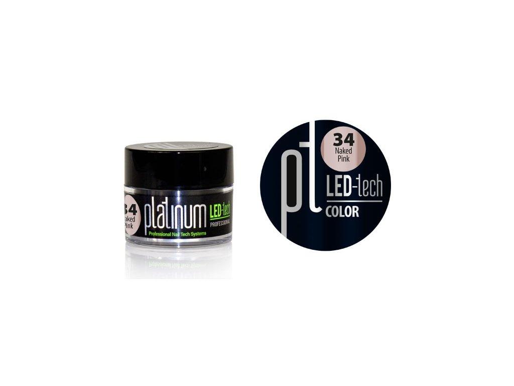Platinum PLATINUM LED-tech COLOR Naked Pink (34), 9g
