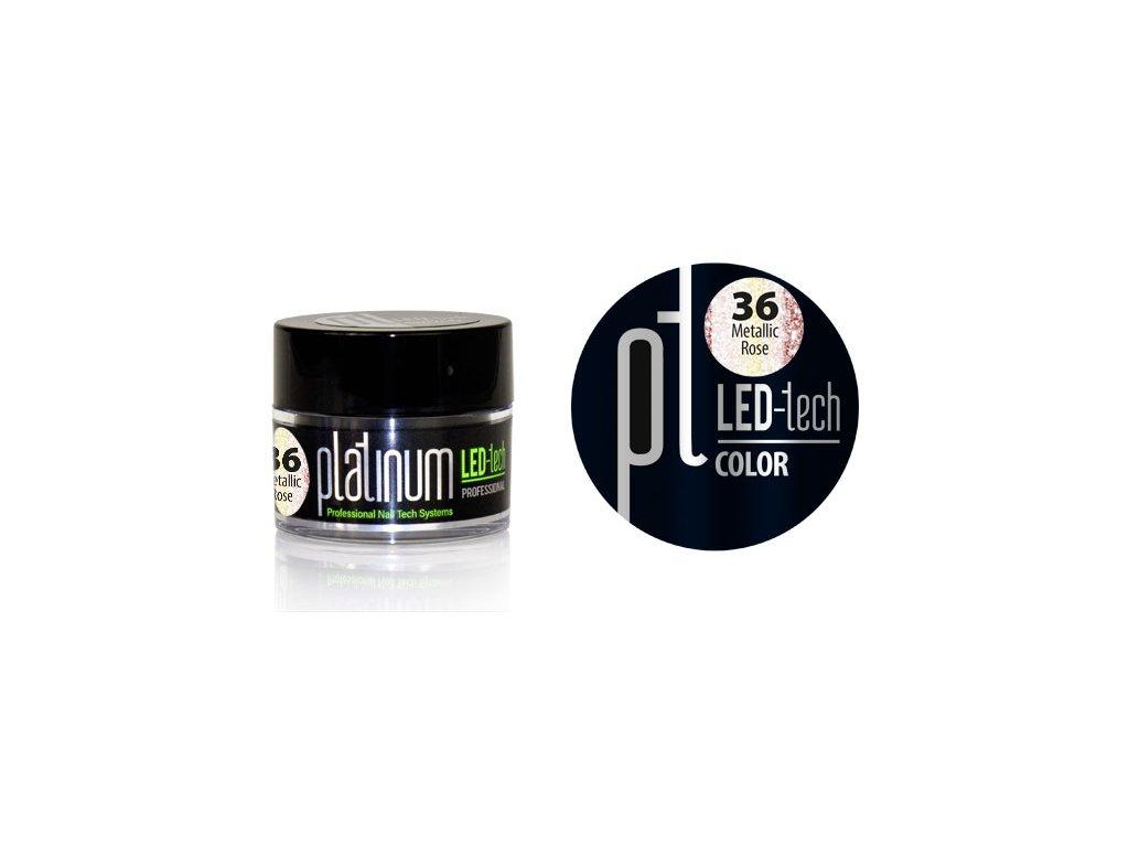 Platinum PLATINUM LED-tech COLOR Metallic Rose (36), 9g