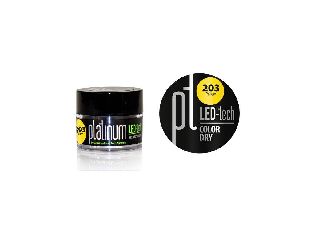 Platinum PLATINUM LED-tech COLOR DRY Yellow (203), 9g