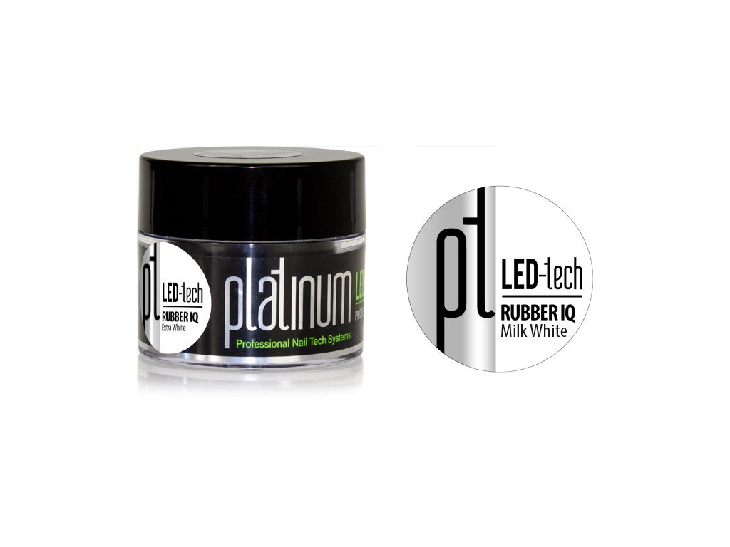 Platinum PLATINUM LED-tech RUBBER IQ Milk White, 40g - Gel rất đàn hồi màu hồng phấn (30 giây LED/120 g