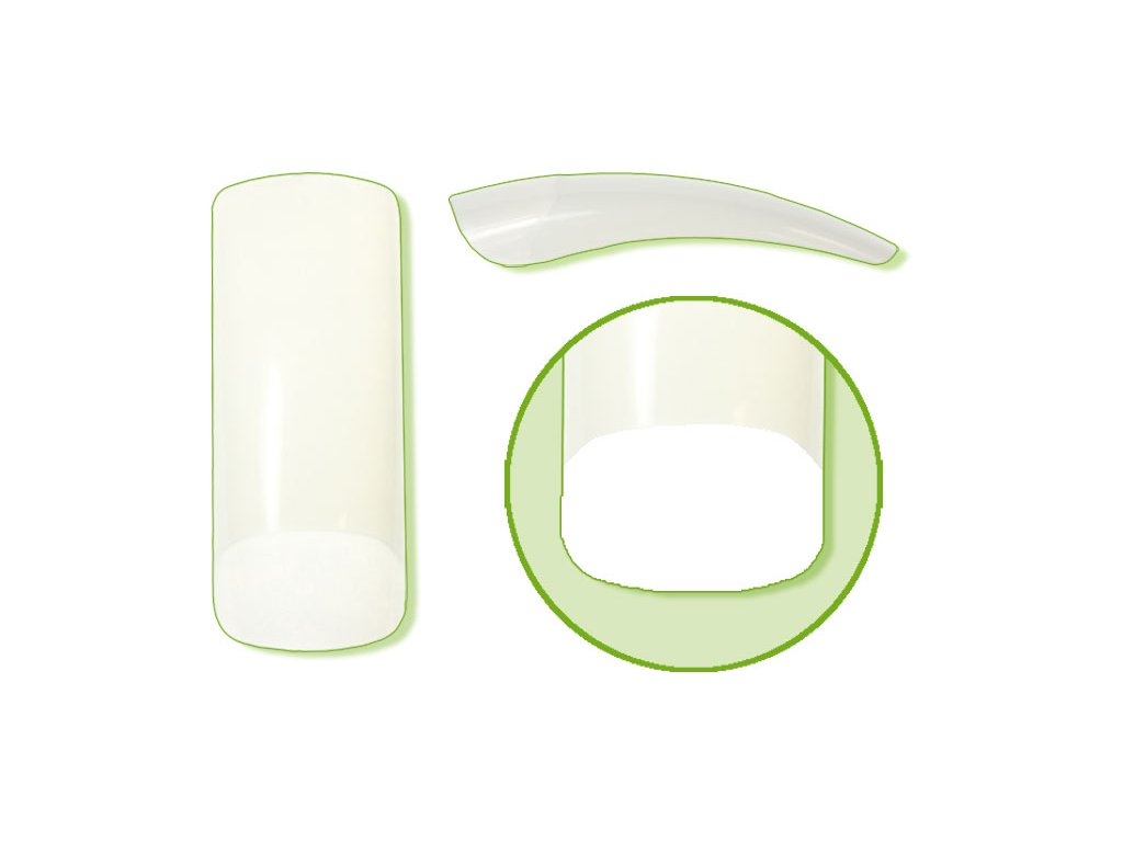 Platinum Nail tips PERFECT SQUARE - móng tip thẳng, phần dán lớn - NATURAL N. 6 50c
