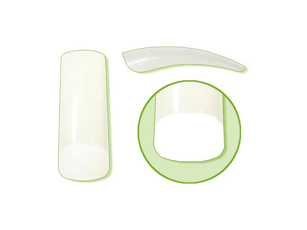 Platinum Nail tips PERFECT LINEAR - móng tip thẳng đầu thon, phần dán lớn - NATURAL N.5 50c