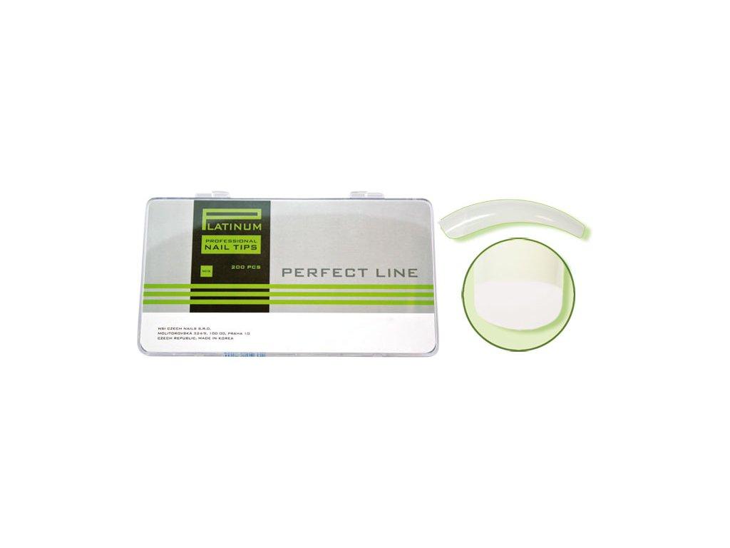 Platinum Nail tips PERFECT OVERLAP (CT-13NA) - móng tip cong, phần dán lớn - NATURAL mix.1-10 200c