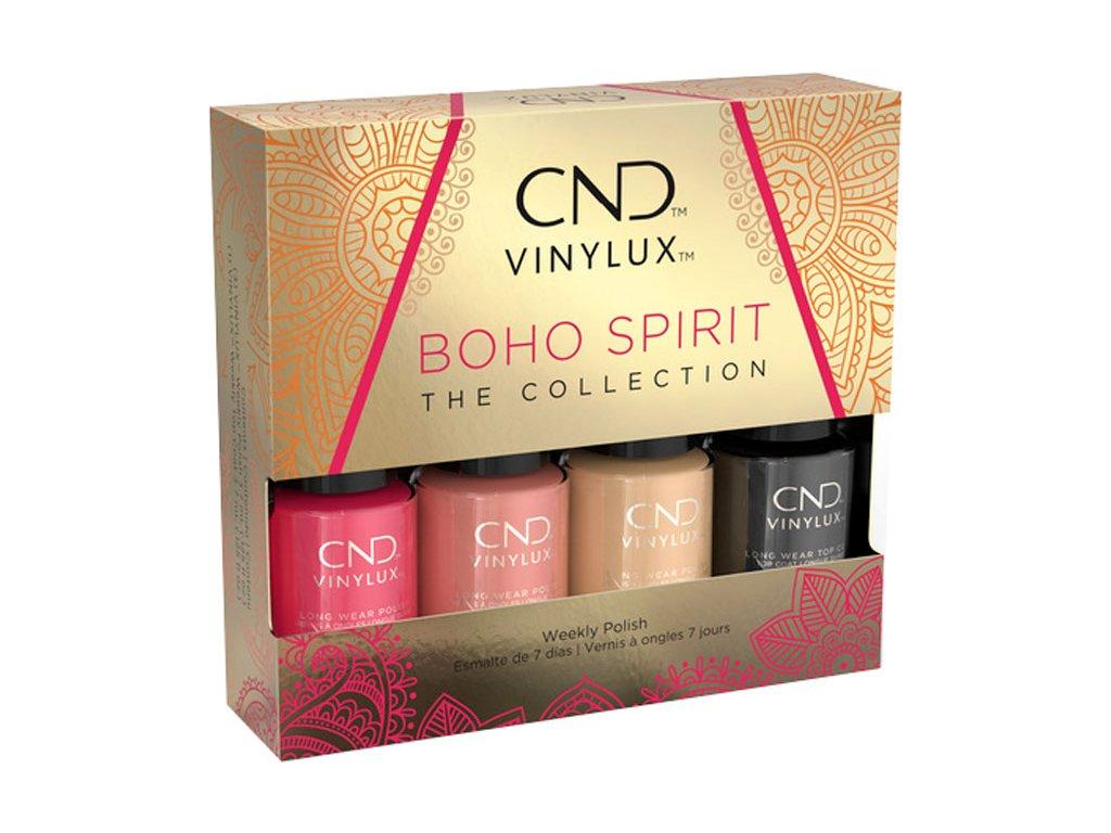 CND VINYLUX™ BOHO SPIRIT PINKY - phiên bản giới hạn  - 3 tông màu hè + Top coat, 4 x 3,7ml