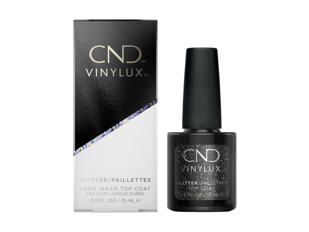 CND VINYLUX - WEEKLY GLITTER TOP COAT - sơn móng một tuần - lớp phủ lấp lánh 0,5oz (15ml)