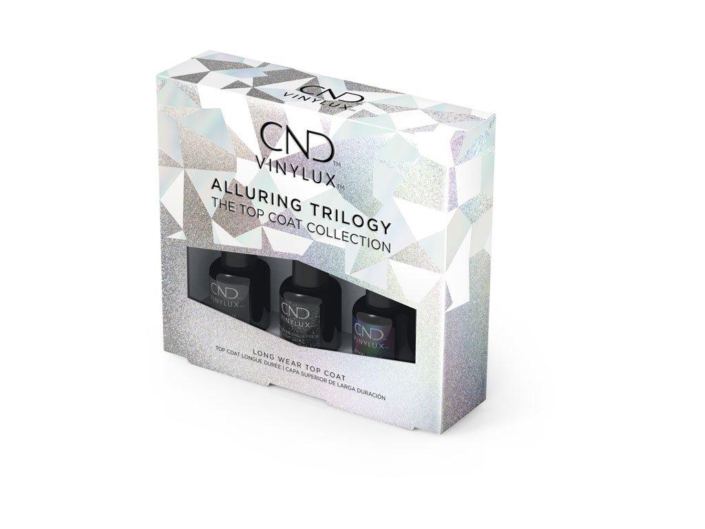 CND CND™ VINYLUX™ MINI TOP COAT Bộ sưu tập  3x3.7mL (ngọc trai, lì, lấp lánh)