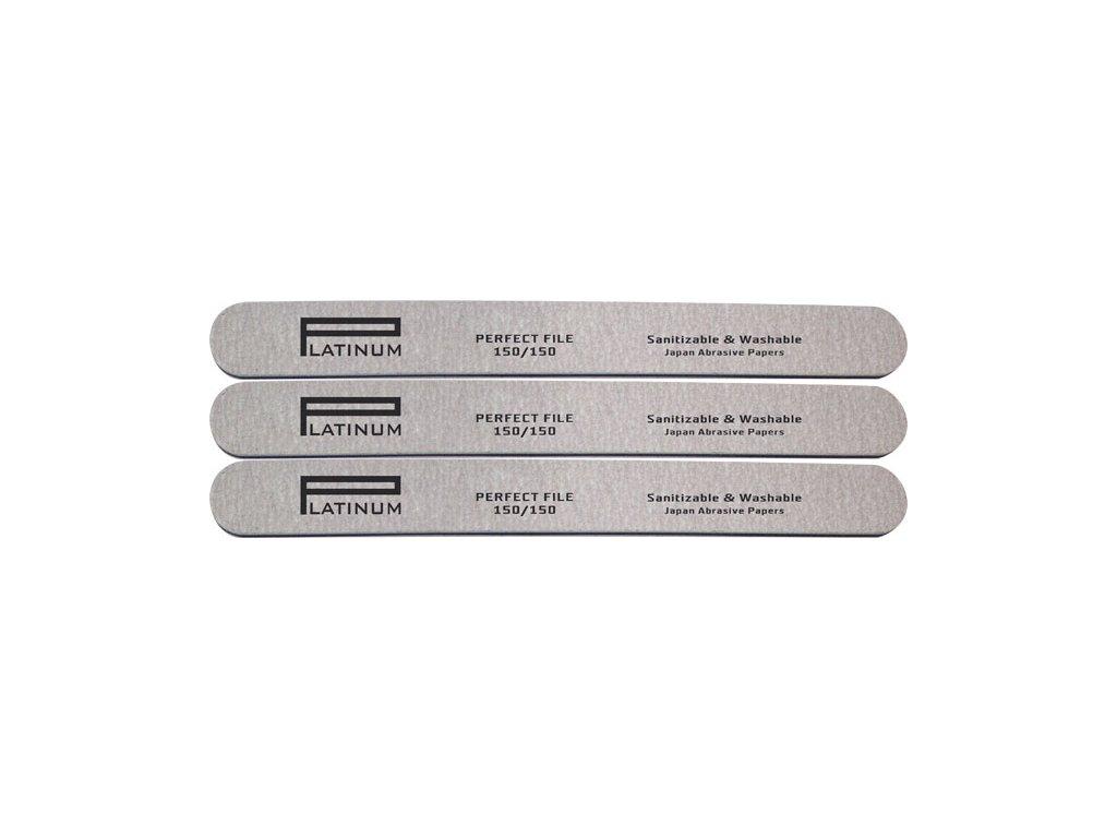 Platinum PLATINUM - PERFECT FILE - bộ dũa móng tay 3 cái ZEBRA 150/150