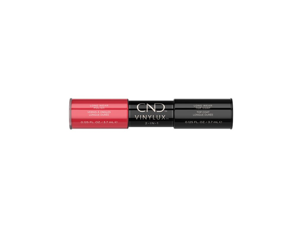 CND VINYLUX™  2-IN-1 LOBSTER ROLL (#122) + WEEKLY TOP COAT, 2x 0.125oz (3,7 ml)