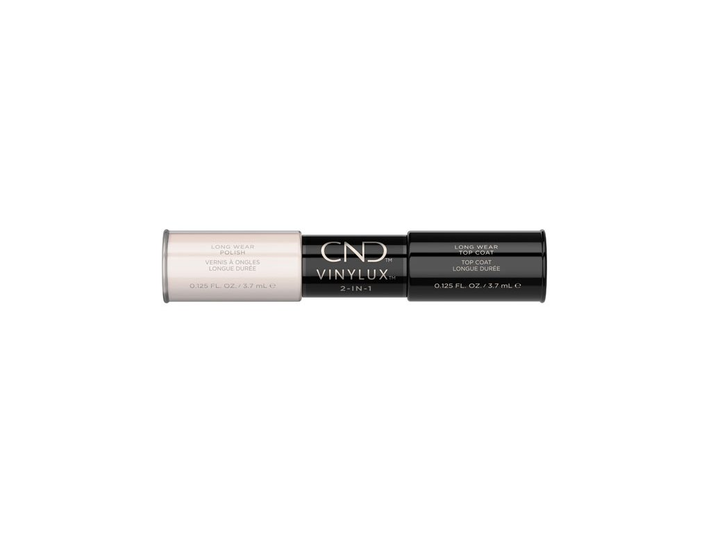 CND VINYLUX™  2-IN-1 NAKED NAIVETE (#195) + WEEKLY TOP COAT, 2x 0.125oz (3,7 ml)