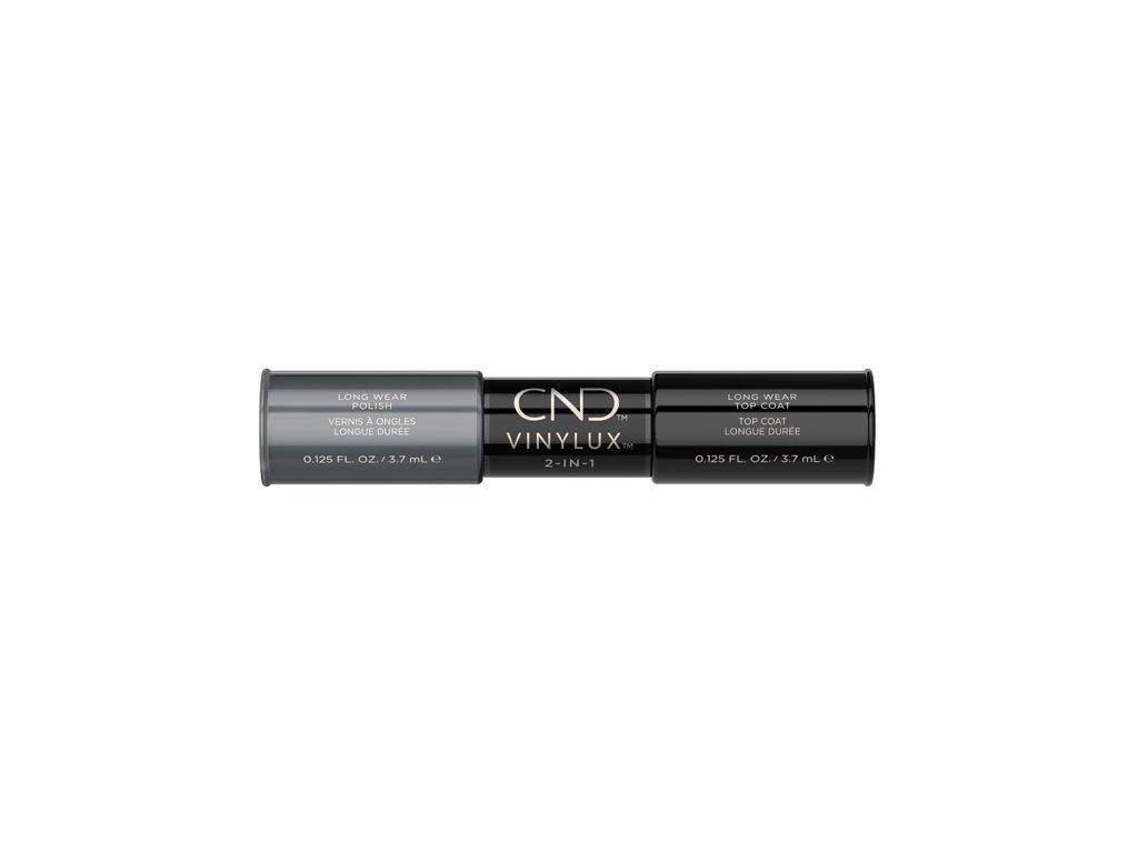 CND VINYLUX™  2-IN-1 ASPHALT (#101) + WEEKLY TOP COAT, 2x 0.125oz (3,7 ml)