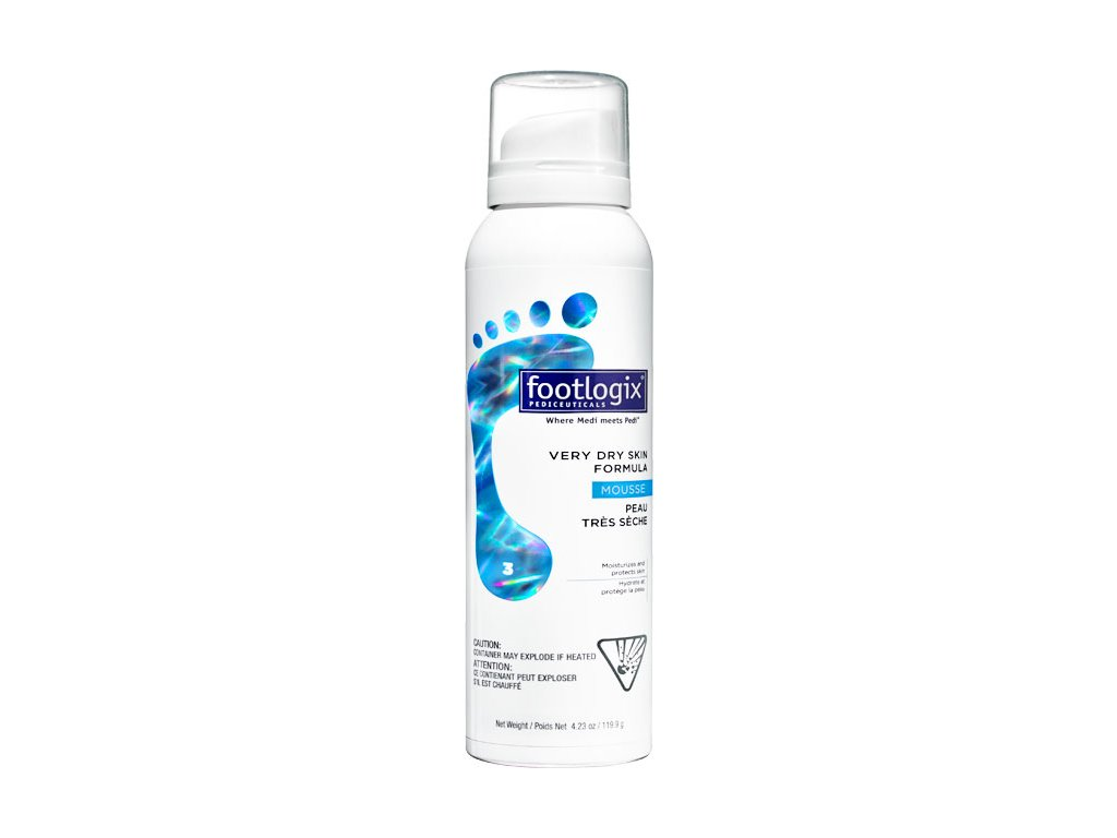Footlogix Footlogix Very Dry Skin Formula (3) - bọt cho da rất khô, 125 ml (4.2 oz.)