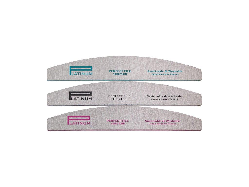 Platinum PLATINUM - PERFECT FILE - bộ dũa móng tay 3 cái ZEBRA HALFMOON MIX