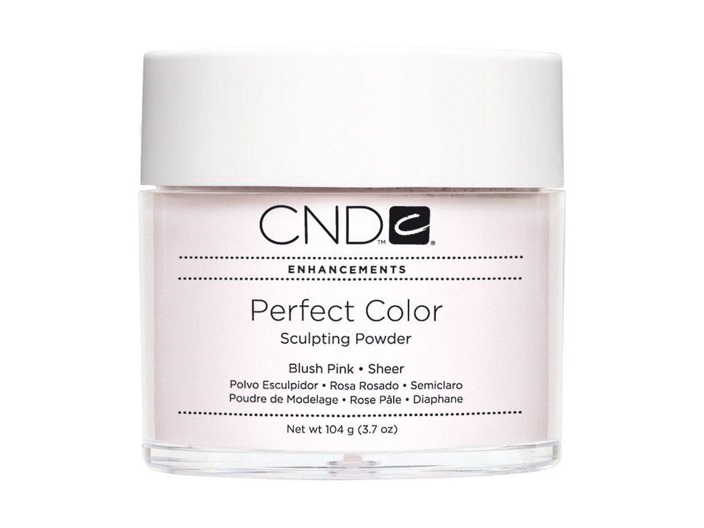 CND PERFECT COLOR Bột tạo dáng - BLUSH PINK SHEER 3.7oz (104g), mầu hồng trong
