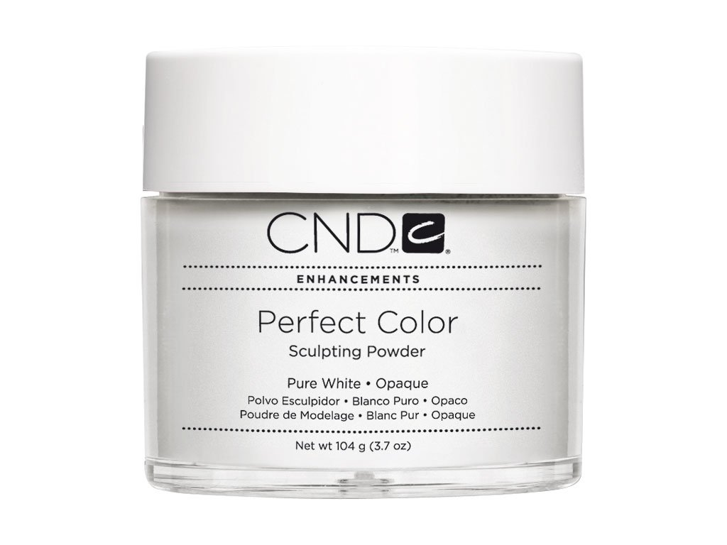 CND PERFECT COLOR  Bột đắp móng- PURE WHITE OPAQUE 3.7oz (104g), mầm trắng tinh