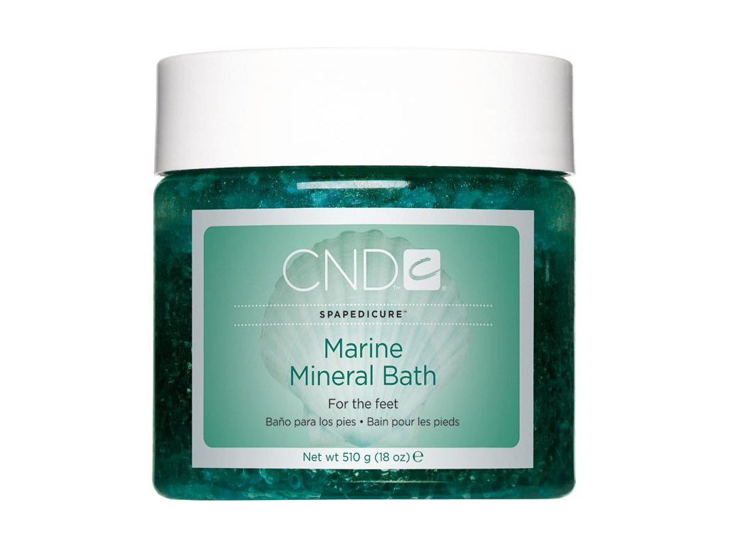 CND SpaPedicure Marine Mineral Bath 18oz (510g), dung dịch khoáng ngâm chân và làm sạch