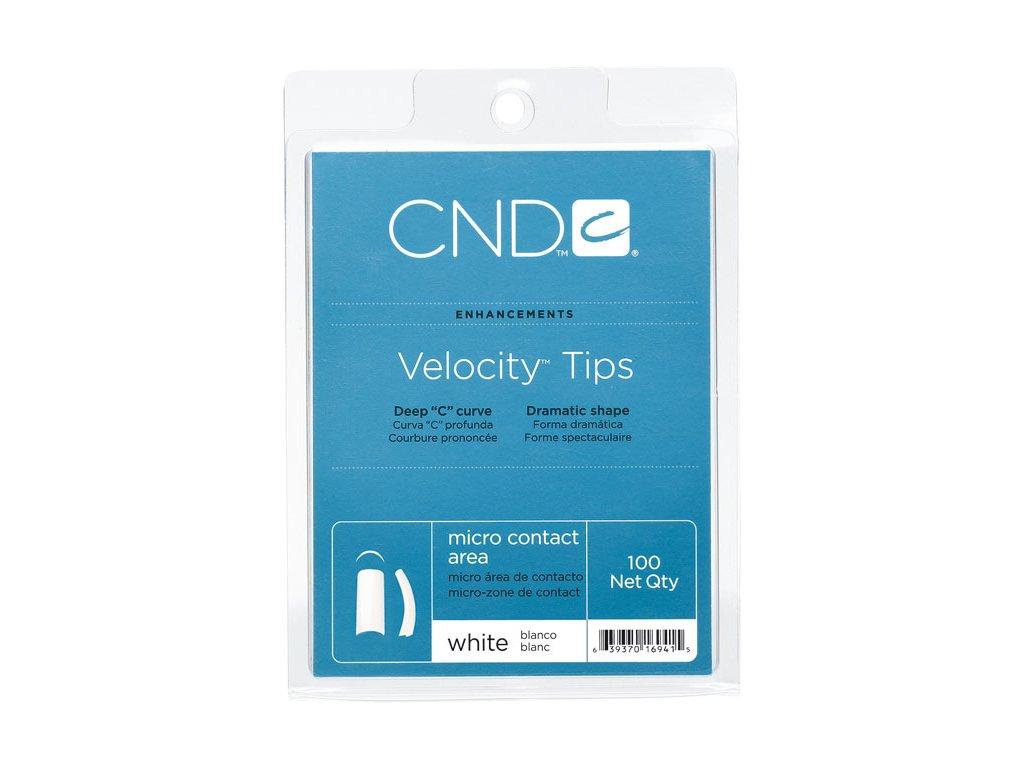 CND Velocity White box 100c,  Tip màu trắng , nền  chữ C độ cong cao , phần dán nhỏ